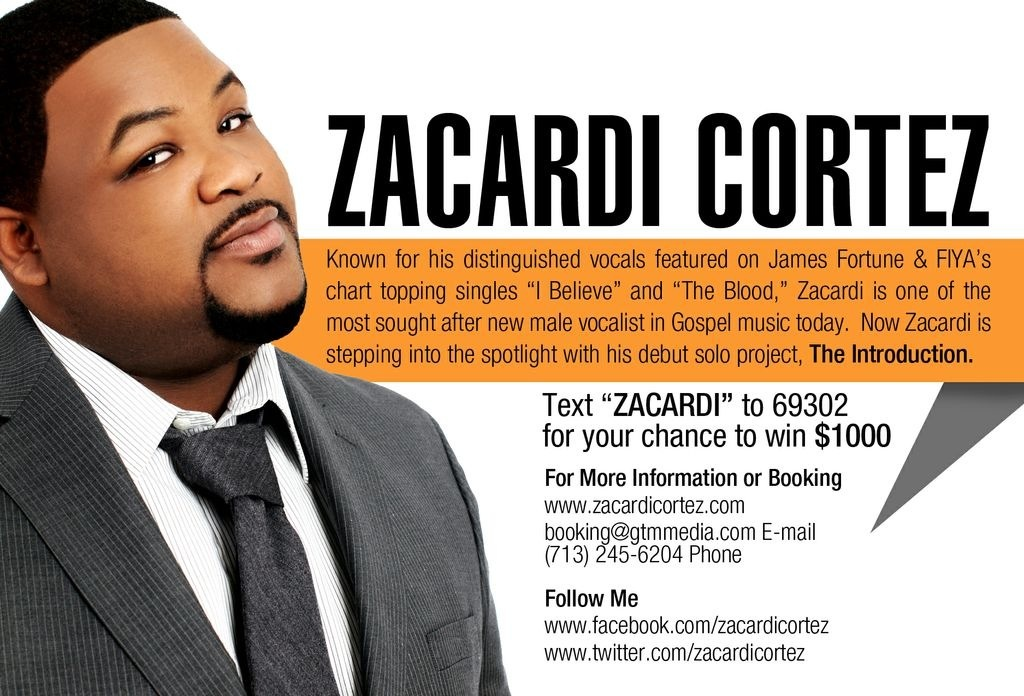 "Text ""Zacardi"" to 69302 to 69302 for your chance to win $1,000"